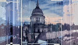 St Pauls At Dusk  by Kris Hardy -  sized 48x28 inches. Available from Whitewall Galleries